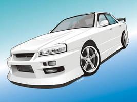 Skyline ER34 Clean version by iyodesign