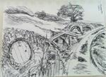 Fountain pen sketch, the Shire