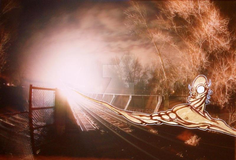 the DEVIL at the TRAIN YARD by JD-Hawkins