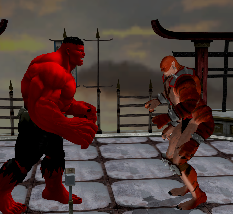 Red Hulk vs Kintaro by R0ck4x3