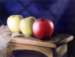 Apples On Bench