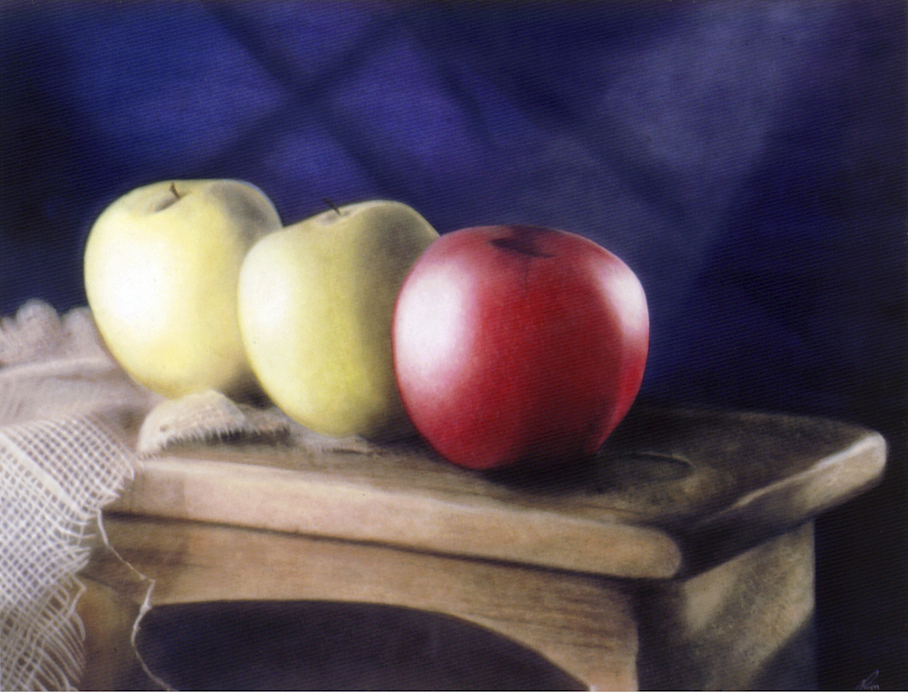 Apples On Bench by rondo858