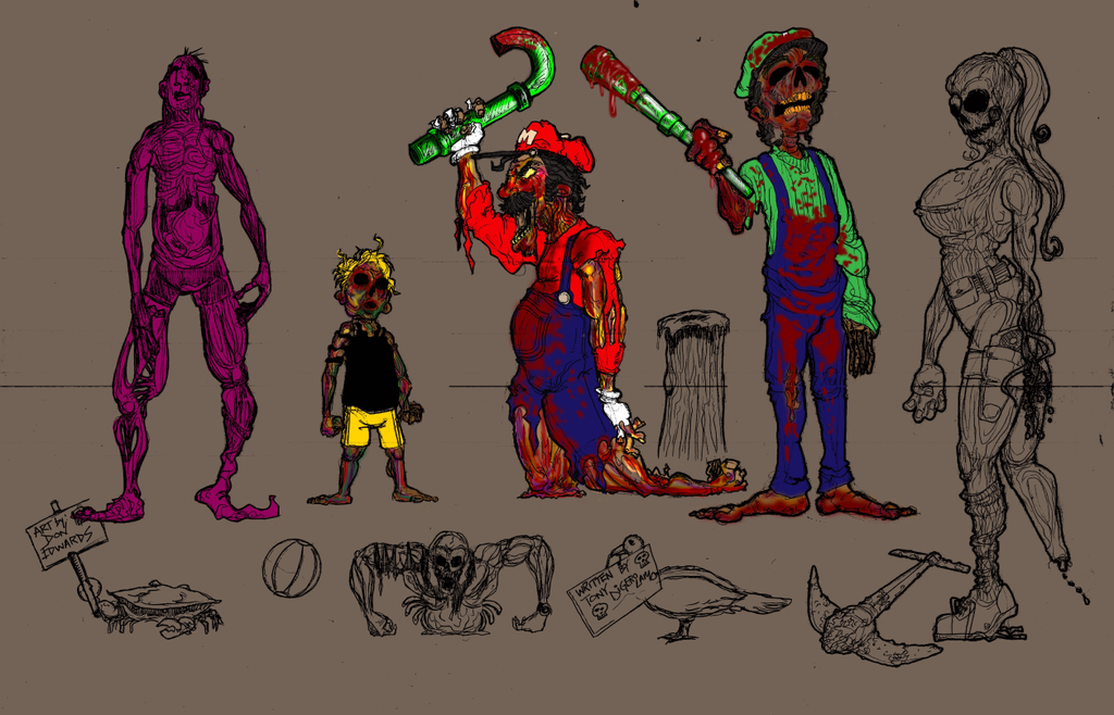 OTG zombie 002 1 by ArtOfDonEdwards