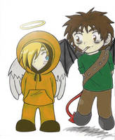 OMFG South Park chibis by Sally-skellington