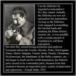 Joseph Stalin on Hitlerism: Nationalism