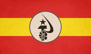Flag of National Bolshevik Spain