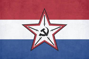 Flag of the Dutch National Bolshevik Republic by ComradeMaxwell