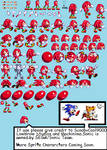 Sonic For Hire Knuckles Sprite Sheet