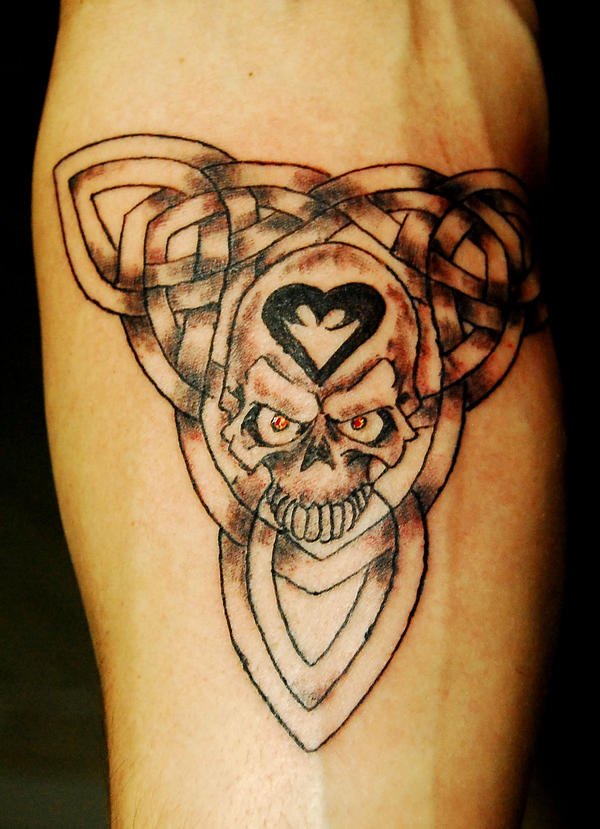 Tattoo images by john hendricks for Celtic skull tattoo