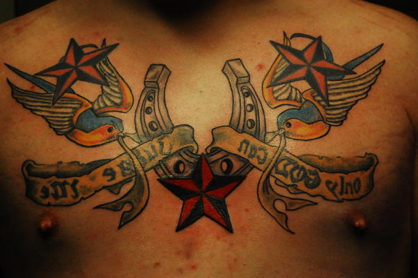 Detailing Mongos Chest - chest tattoo