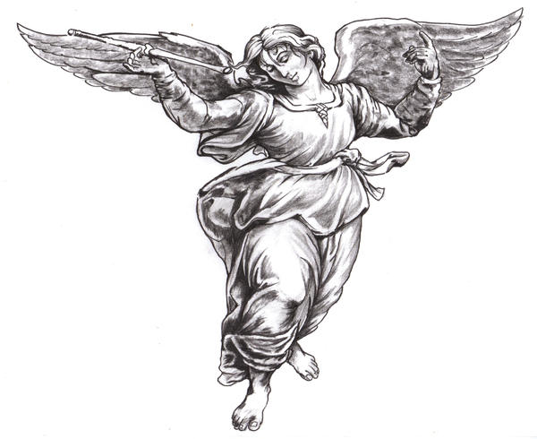 Renaissance Angel Painting Renaissance Study Angel by