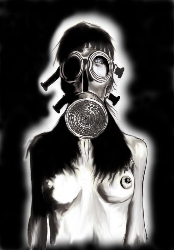 Gas Mask Chick2... by WikkedOne