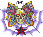 Sailor Jim Skull Butterfly C