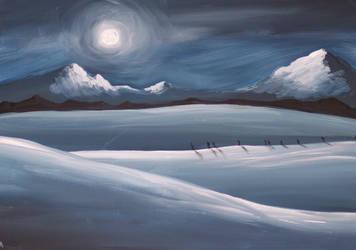Snowy Mountains by ajburr