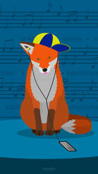 Music Fox (Mobile Wallpaper 2302x4096)