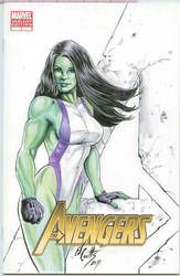 She-Hulk cover by ed-coutts
