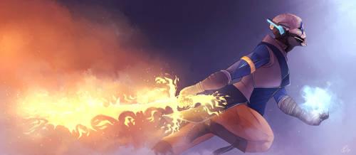 Dawnblade [+speedpaint] by RoxyDeerArtz