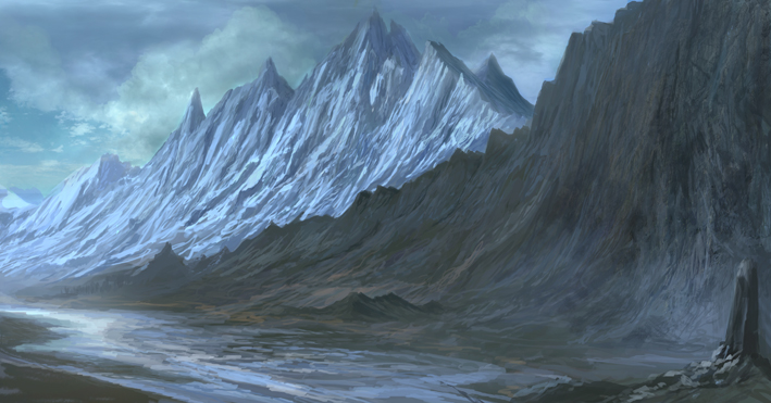 The History of the Trall: The Beginning to post-cataclysm  Fantasy_mountain_rendering_by_jbconcept-d3g85g7