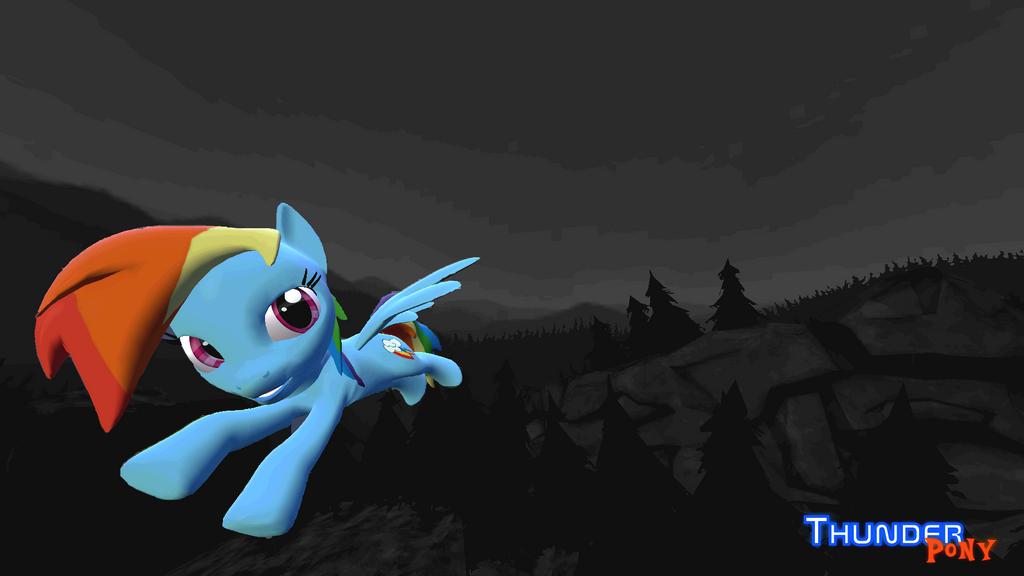 Thunder Pony Rainbow Brave Dash wallpaper 2 by LukasDeAudi