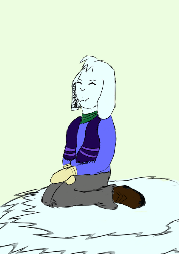 Asriel's first winter by LukasDeAudi