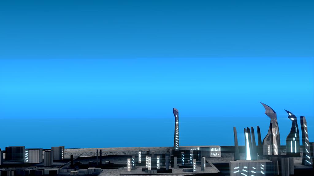 City Horizon (Blue Filter) by LukasDeAudi