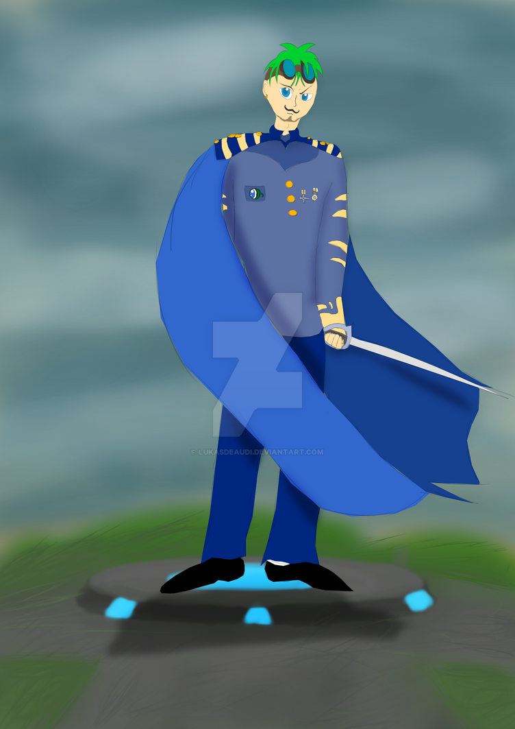 Jacksepticeye as a airship captain by LukasDeAudi