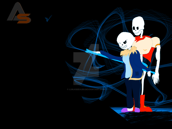 Sans And Papyrus by LukasDeAudi
