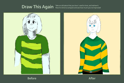 Asriel and Asreal (Draw this again)
