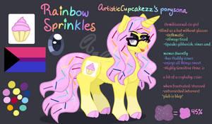 Rainbow Sprinkles ref sheet 2020 (my ponysona)