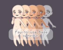 Chibi P2U Girl Base by Harcium