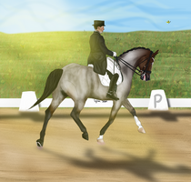 Spring Training Show - Chrome in Dressage