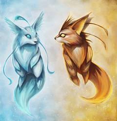 Icefox and Firefox by Ninjatic