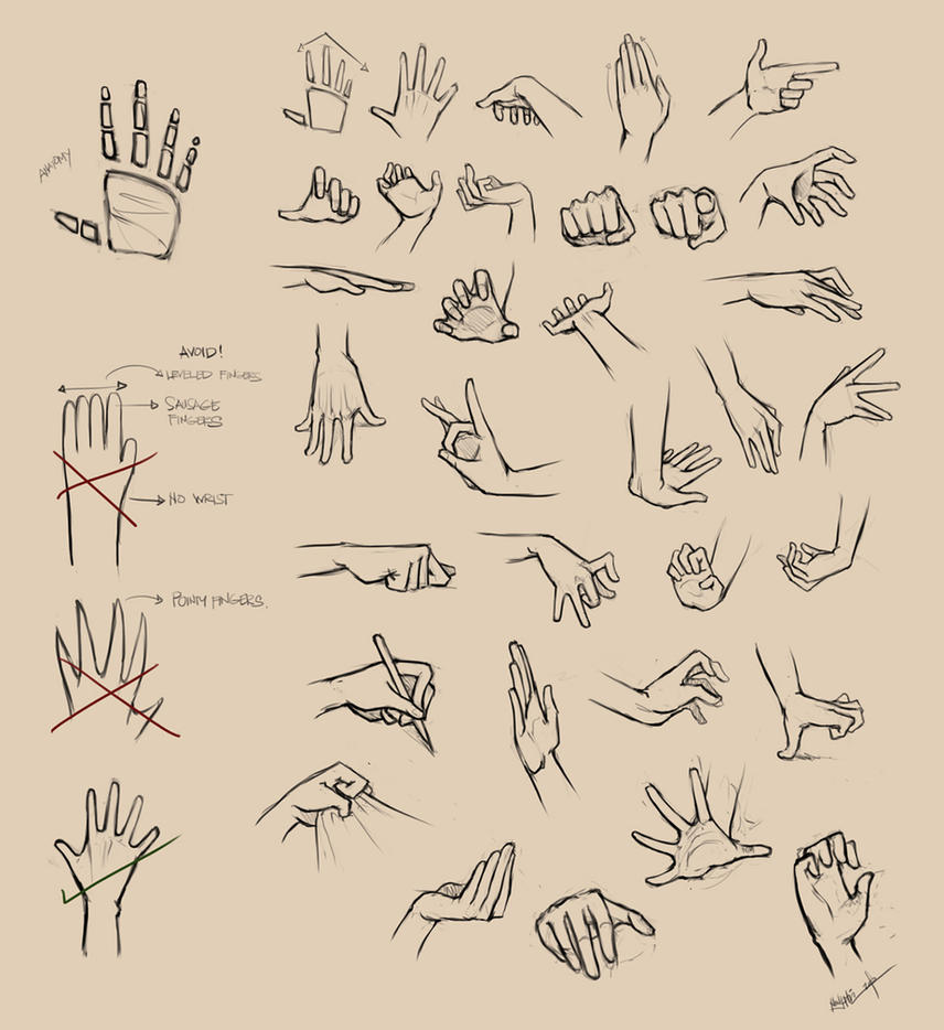 Hands Reference I by Ninjatic on DeviantArt