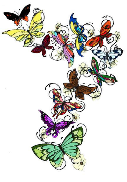 butterfly tattoo design by pop squally on deviantart. Black Bedroom Furniture Sets. Home Design Ideas