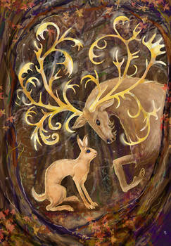 Elk and Hare