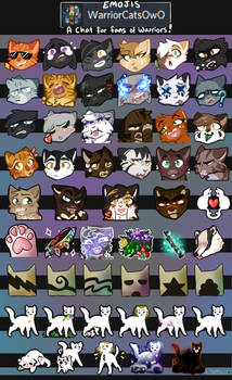 Warrior Cat Discord/Telegram Emojis by BluSilurus