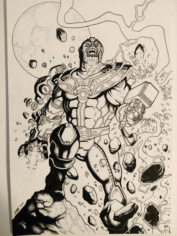 Thanos!!! holding hammer again by rewinde