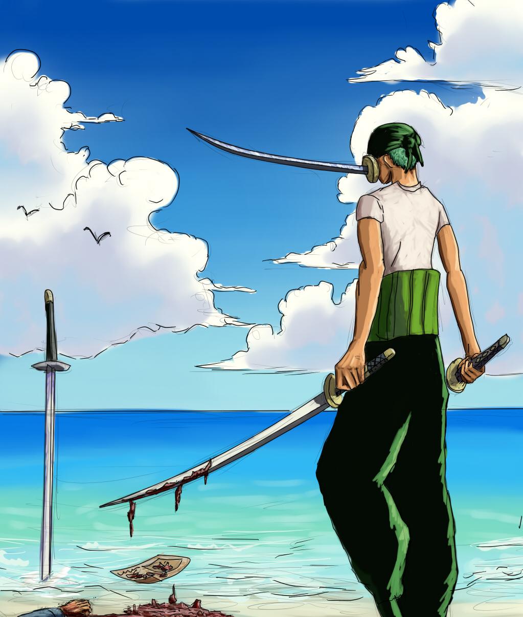 SAI practice - Pirate hunter Zoro by IRCSS