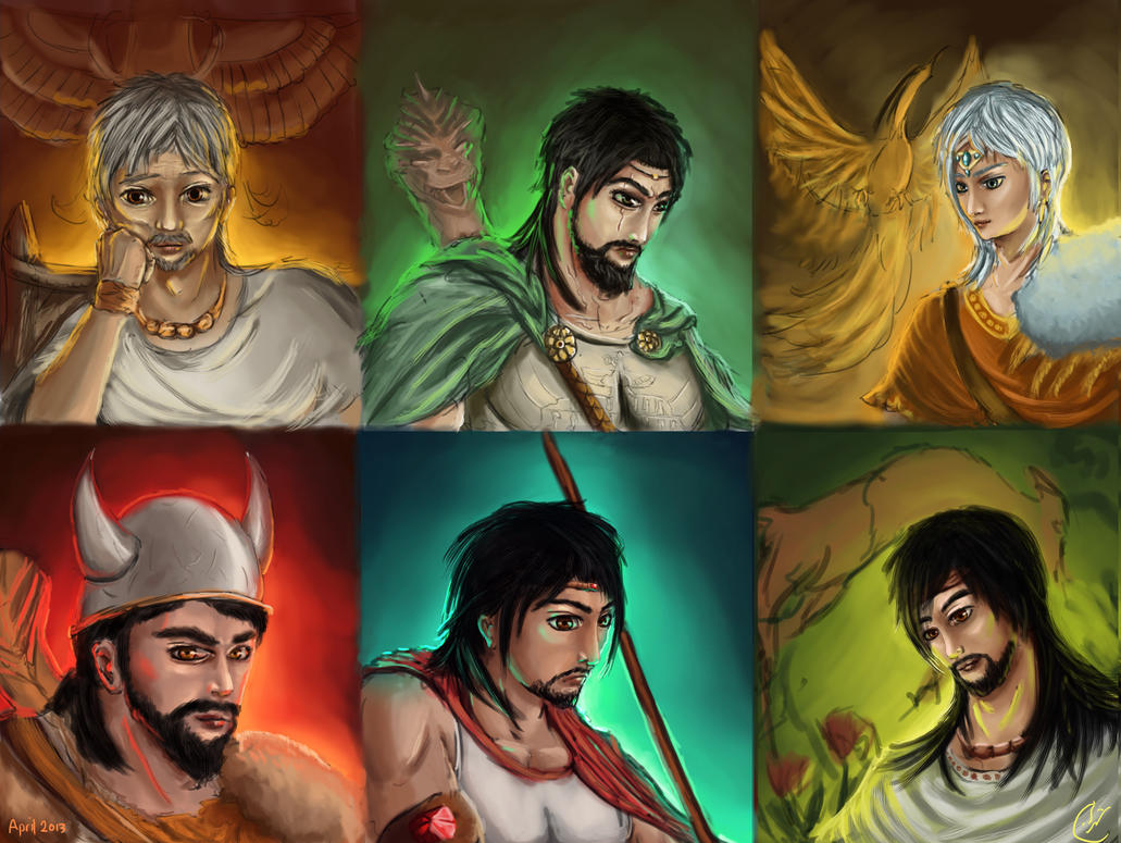 portraits heroes from persian mythology picture portraits
