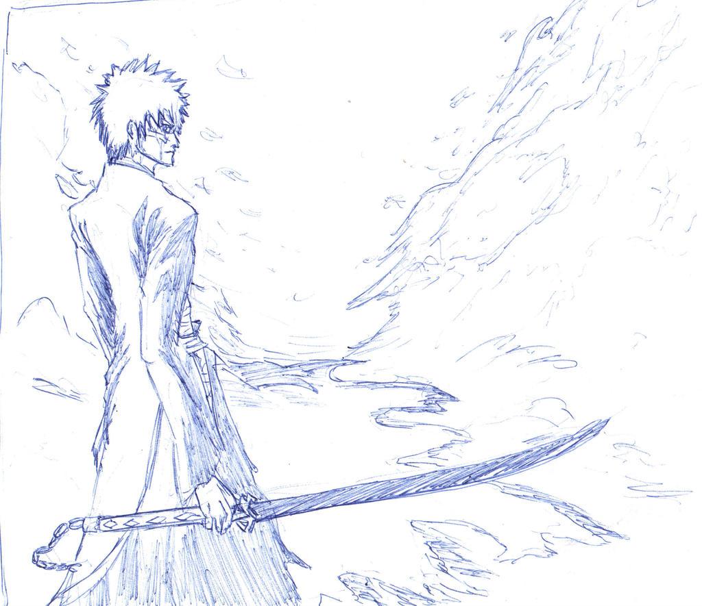 Sketches done in school - Ichigo Kurosaki by IRCSS