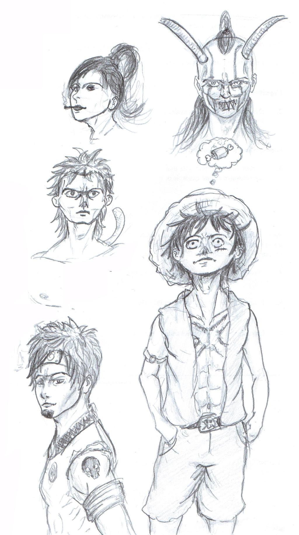 Sketches done in school - Sketch collection. by IRCSS