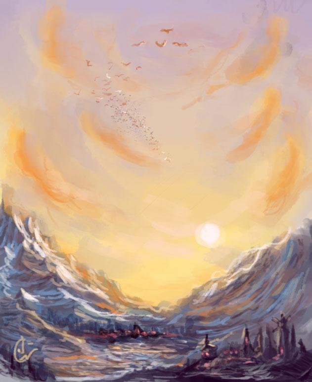 Speedpainting - Sunset by IRCSS