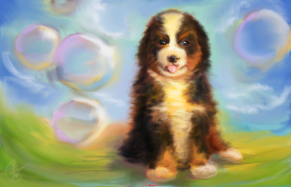 Speed painting -  Puppy by IRCSS