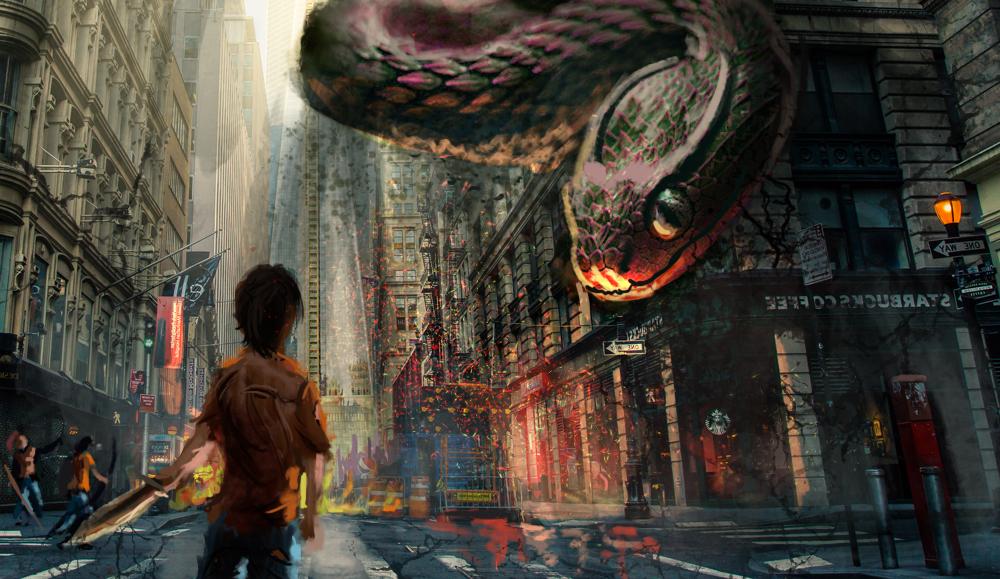 Percy Jackson - Battle of Manhattan by IRCSS