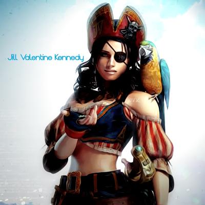 Jill's Pirate costume by JillValentinexBSAA
