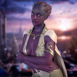 Asari Princess on Illium (Mass Effect)