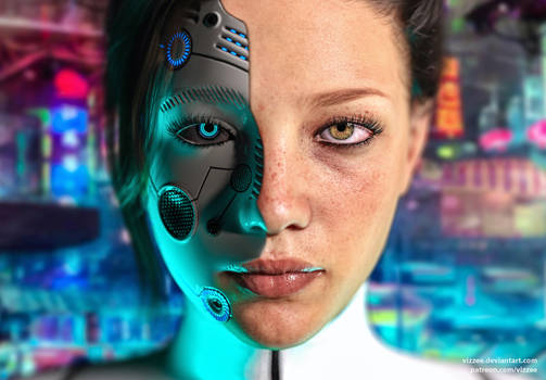 Singularity - Detroit Become Human fanart by Vizzee