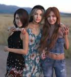 Veronica, Lena, Ashley by Vizzee
