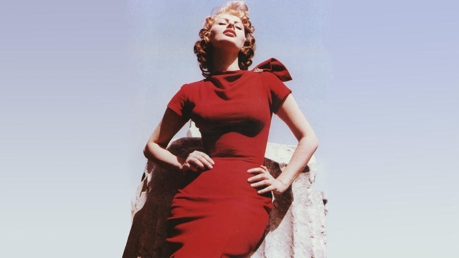 Sophia Loren - Red Dress by beauteousgoddess