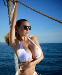 Ocean Blue Glamour by beauteousgoddess